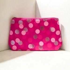 Clinique Hot Pink Polka Dot Makeup Bag